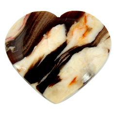 Natural 16.30cts peanut petrified wood fossil 25x22.5 mm loose gemstone s17142
