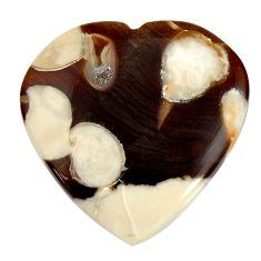 Natural 20.30cts peanut petrified wood fossil 25x25 mm loose gemstone s17145