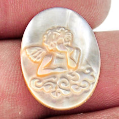 Natural 5.15cts pearl blister carving 20x15 mm oval angel loose gemstone s18305