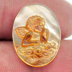 Natural 5.15cts pearl blister carving 20x15 mm oval angel loose gemstone s18310
