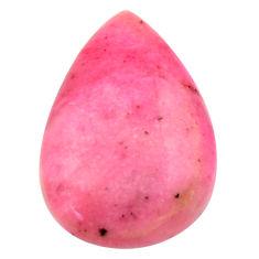 Natural 13.40cts petalite pink cabochon 24x16 mm pear loose gemstone s17785