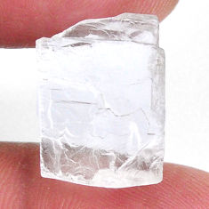 Natural 11.30cts petalite rough white rough 15x12.5 mm loose gemstone s19951