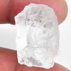 Natural 44.35cts petalite rough white rough 23.5x16 mm loose gemstone s19944
