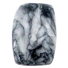 Natural 17.35cts pinolith white cabochon 20x13 mm octagan loose gemstone s23045
