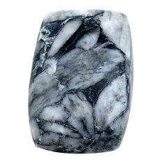 Natural 16.15cts pinolith white cabochon 20x13 mm octagan loose gemstone s23059