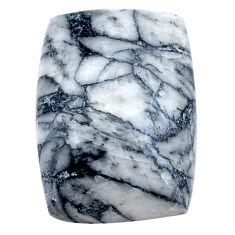 Natural 19.15cts pinolith white cabochon 20x14 mm octagan loose gemstone s23058