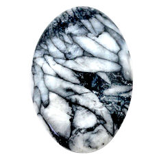 Natural 33.10cts pinolith white cabochon 35x22.5 mm oval loose gemstone s23584