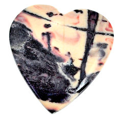 Natural 32.05cts porcelain jasper (sci fi) 29x27 mm heart loose gemstone s21794