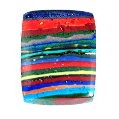 Natural 11.30cts rainbow calsilica multi color 17x13.5 mm loose gemstone s19500