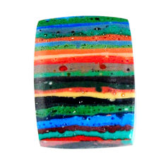 Natural 10.20cts rainbow calsilica multi color 18x13.5 mm loose gemstone s19499