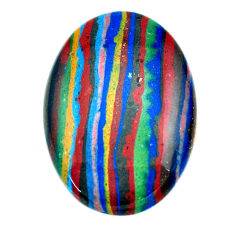 Natural 21.35cts rainbow calsilica multi color 32x22.5 mm loose gemstone s23549