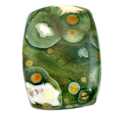 Natural 19.20cts rainforest rhyolite jasper 23.5x17 mm loose gemstone s24532