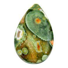 Natural 21.30cts rainforest rhyolite jasper 30x18 mm pear loose gemstone s24509
