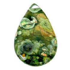 Natural 20.15cts rainforest rhyolite jasper 32.5x20mm pear loose gemstone s24533