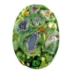 Natural 27.35cts rainforest rhyolite jasper 33x22 mm oval loose gemstone s24504