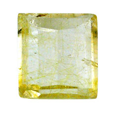 Natural 28.25cts rutile golden cabochon 20x18 mm octagan loose gemstone s20072