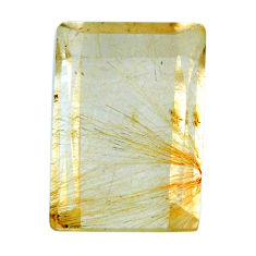 Natural 33.10cts rutile golden cabochon 23.5x16 mm octagan loose gemstone s20071