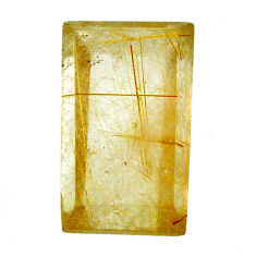 Natural 27.40cts rutile golden cabochon 23x13.5 mm octagan loose gemstone s20069