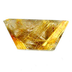 Natural 18.10cts rutile golden cabochon 25x12 mm fancy loose gemstone s20076