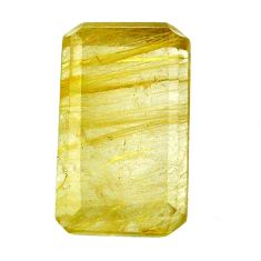 Natural 29.45cts rutile golden cabochon 26x15 mm octagan loose gemstone s20068