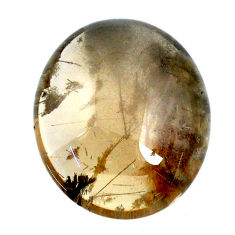 Natural 54.30cts scenic lodolite white cabochon 27x23 mm loose gemstone s20085
