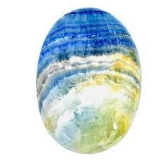 Natural 36.45cts scheelite (lapis lace cabochon 34x22 mm loose gemstone s22567
