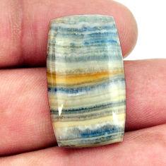 Natural 18.45cts scheelite (lapis lace onyx) 27x15.5 mm loose gemstone s16391
