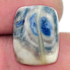Natural 10.15cts scheelite (lapis lace onyx) blue 16x12 mm loose gemstone s17629
