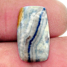 Natural 9.30cts scheelite (lapis lace onyx) blue 18x10 mm loose gemstone s17623