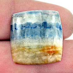 Natural 19.30cts scheelite (lapis lace onyx) blue 21x20 mm loose gemstone s17635
