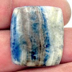 Natural 19.30cts scheelite (lapis lace onyx) blue 24x21 mm loose gemstone s17605