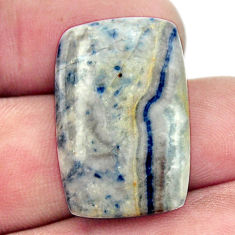 Natural 18.25cts scheelite (lapis lace onyx) blue 25x17 mm loose gemstone s17626