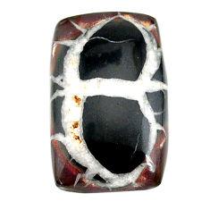 Natural 24.80cts septarian gonads black cabochon 27x17 mm loose gemstone s22519