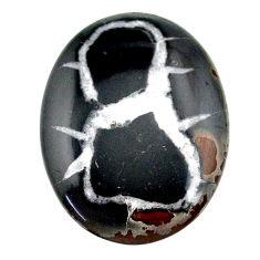 Natural 29.85cts septarian gonads black cabochon 32x25 mm loose gemstone s22513