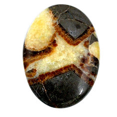 Natural 40.95cts septarian gonads cabochon 38x27 mm oval loose gemstone s20973