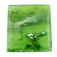 Natural 54.45cts serpentine green cabochon 32x28mm octagan loose gemstone s20609