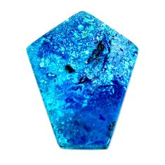Natural 28.20cts shattuckite blue 36x28 mm fancy loose gemstone s19509