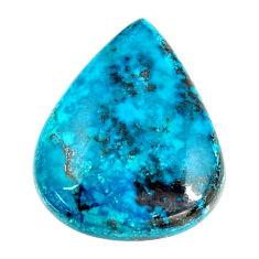 Natural 18.10cts shattuckite blue cabochon 24x20 mm pear loose gemstone s17060