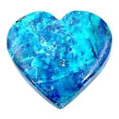 Natural 23.45cts shattuckite blue cabochon 25x24 mm heart loose gemstone s18636