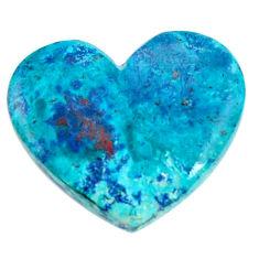Natural 20.10cts shattuckite blue cabochon 26x22 mm heart loose gemstone s18625