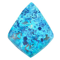 Natural 16.30cts shattuckite blue cabochon 27.5x20mm fancy loose gemstone s23127