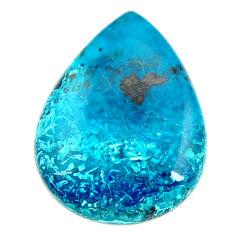 Natural 23.45cts shattuckite blue cabochon 28x22 mm pear loose gemstone s17058