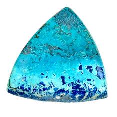 Natural 16.30cts shattuckite cabochon 23x22 mm trillion loose gemstone s18611