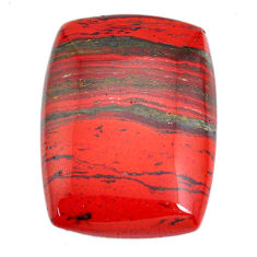 Natural 58.15cts snakeskin jasper red cabochon 35x25.5 mm loose gemstone s21836