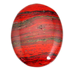 Natural 57.40cts snakeskin jasper red cabochon 40x30 mm loose gemstone s21826