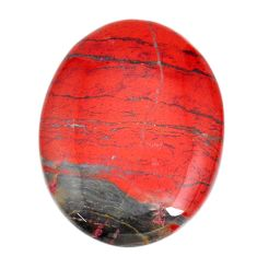 Natural 61.30cts snakeskin jasper red cabochon 40x30 mm loose gemstone s21832