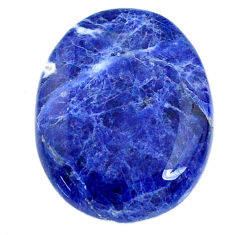 Natural 21.45cts sodalite blue cabochon 26x20 mm oval loose gemstone s21049
