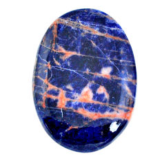 Natural 42.10cts sodalite blue cabochon 40x28 mm oval loose gemstone s21052