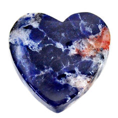 Natural 14.35cts sodalite orange cabochon 19x18 mm heart loose gemstone s17734