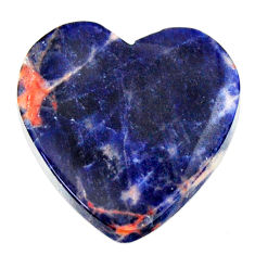 Natural 12.40cts sodalite orange cabochon 19x19 mm heart loose gemstone s17736